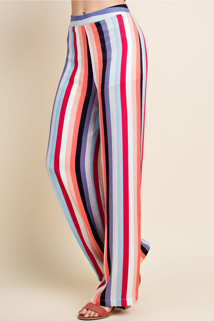 Luna Striped Pants, Dark Multi