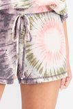 Don't Worry Be Happy Tie Dye Shorts