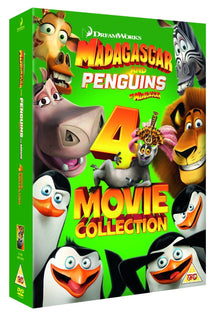 Madagascar And Penguins of Madagascar 4 Movie Collection [DVD]