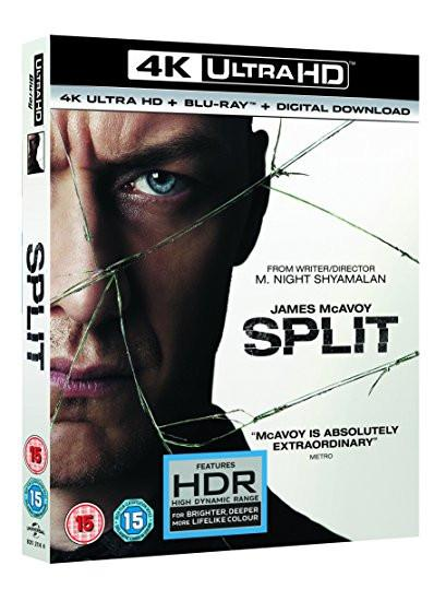 SPLIT 4K UHD + digital download [Blu-ray] [2017]