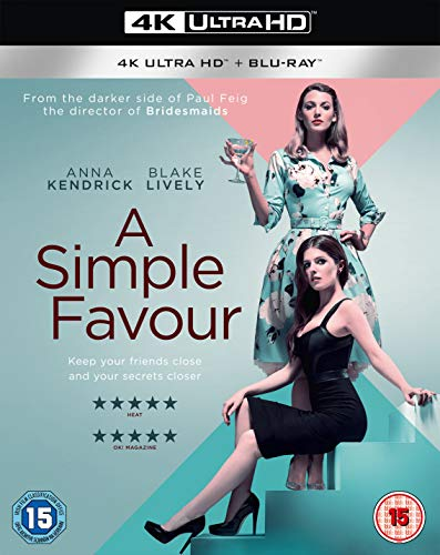 A Simple Favour 4K [Blu-ray] [2018]