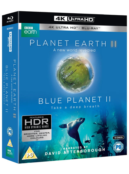Planet Earth II & Blue Planet II Boxset [4K Blu-ray] [2017]