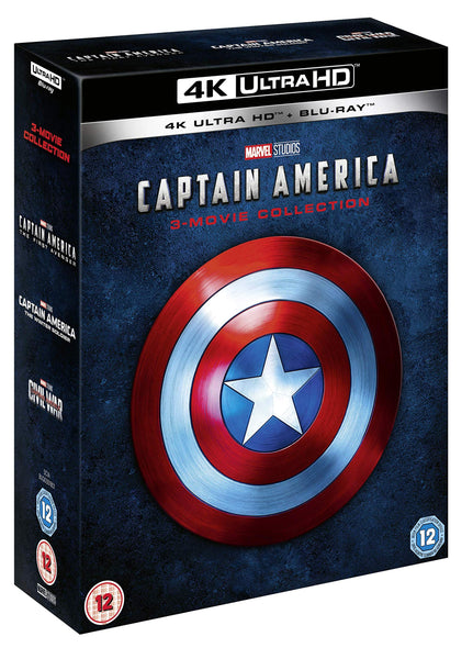 Captain America 4K UHD Trilogy [4K Blu-ray] [2019] [Region Free]