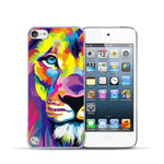 For Apple iPod Touch 5 Case Colorful Lion Flower Painted Cover For iPod touch 5 5th Cases Capa Coque