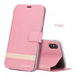 iPhone  Wallet Case with Kickstand Card Holder ID Slot and Hand Strap Shockproof Cover