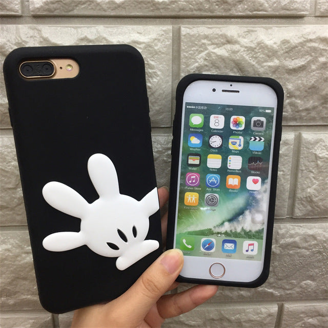 Protective 3D Cartoon Silicone Soft phone case For iphones Cute Polka Dots Bow Lovely Classic
