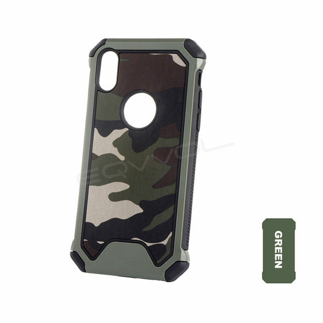 3 In1 Army Green Camouflage Case For iPhones