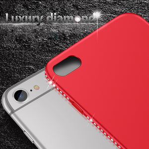 Luxury Soft Silicone Rhinestone Case Cover for iPhones, Glitter Bling Stone Fitted Case