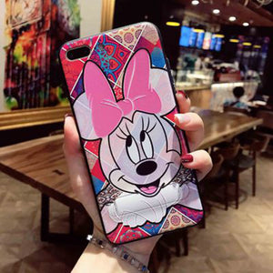 Cute Phone Case with Kick Stand Silicone Soft cover For iPhones