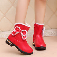 2019 New Winter Leather Plush Boots Size 27-37