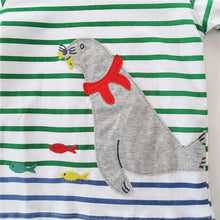 2 pcs sets animals cartoon printed long sleeve clothing suits