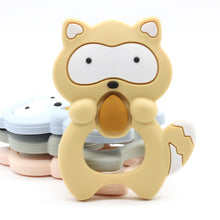 Silicone Teethers Raccoon Baby Ring Teether BPA Free Silicone