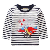 Animals Knitted Long Sleeve T-Shirts