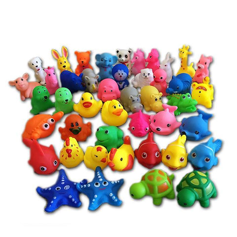 13Pcs Lovely Mixed Animals Colorful Soft Rubber