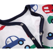 Cartoon Car Long Sleeves Soft 100% Cotton Romper