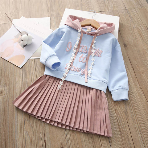 2019 Autumn Winter Kids Girls Long Sleeve Dress