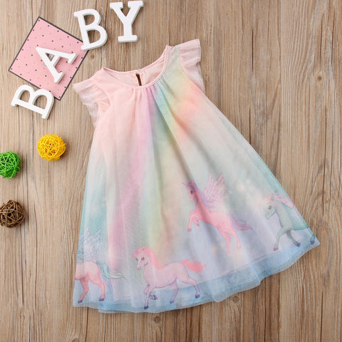 Rainbow Unicorn Party Pageant Dress