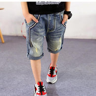 2018 new summer boys shorts knee length leggings