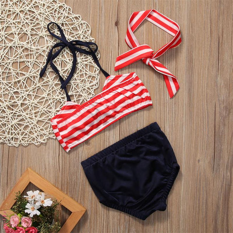 Cute girls swimwear baby kids bikini