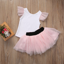 2018 Super Cute Mom And Girls Summer Casual - Set T-shirt Skirt Tulle Dress