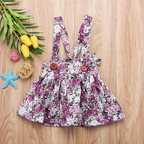 Baby Girl Floral Overall Skirt Party Princess