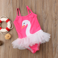 Swimsuit Tulle Tutu Swimming One-piece For Baby Girls