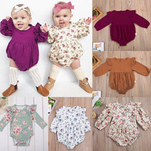 2018 New Newborn Baby Girls Kids Long Butterfly Sleeve Romper Outfits