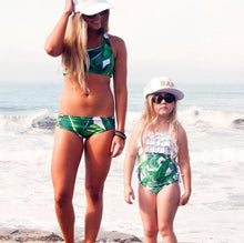 2018 New Mother and Daughter Palm Leaves Swimsuit Bikini Set