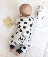 Newborn, Long-sleeved Dot jumpsuit Infant Clothing set Outfits