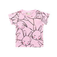 Cartoon Printed Children T-shirts Girls Clothing