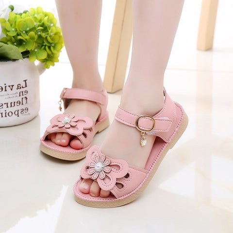 2018 New Summer Flowers Princess Shoes