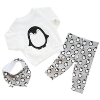 2018 Newborn Baby Girls Clothes Spring Penguin