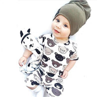 Summer Baby Boy Cartoon Print Jumpsuit