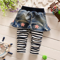 striped pants denim skirts  6- 24 months!
