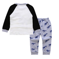 Winter Suit Long Sleeves Dinosaur Shirt Boy Clothes Set