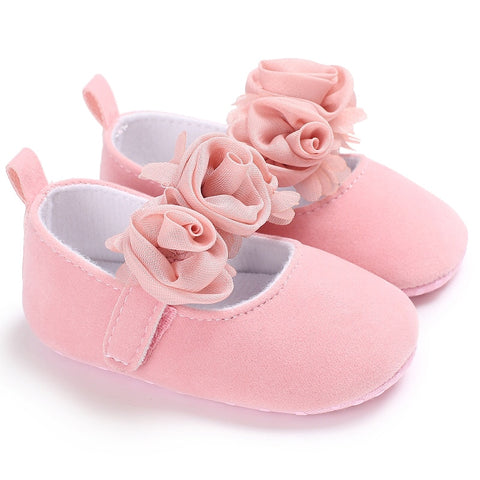 Lovely Solid Floral Style Girls Shoes