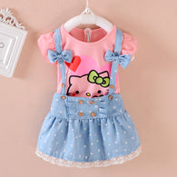 Cartoon Lovely Princess Toddler Girl Clothing Sets