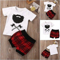 Summer Clothes Set Cotton Short Sleeve + Top