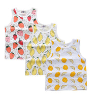 3 Pcs Vest Boys & Girls T-Shirts Printed