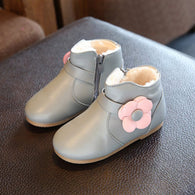 Princess Floral Boots Cute Leather