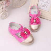 Shoes With Bowknot Rhinestone Princess