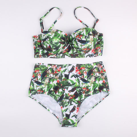 Push Up Floral Swimwear Bikini