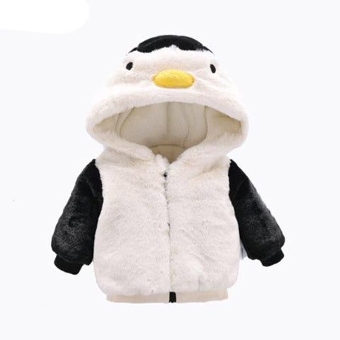 Winter Penguin Wadded Jacket Zipper Coat