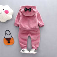 Cartoon Print Bow Fleece