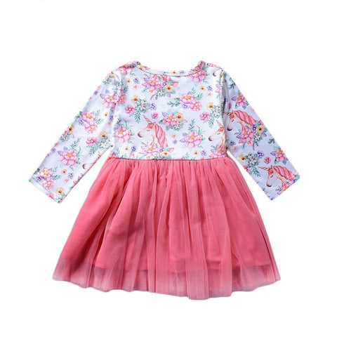 Cotton Floral Gauze Dress Bow Frill Red Princess