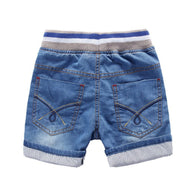 Solid Denim Cotton Shorts For 3-10 years