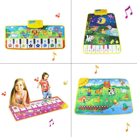 Infant Piano Music Play Mats - Games Playmat for Kids