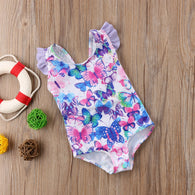 Butterfly One Pieces Suit Floral Short Style