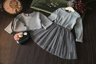 Long Sleeve Grey Sweater Top + Dress