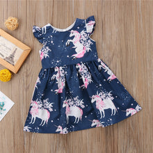 floral Unicorn printed Casual Dress